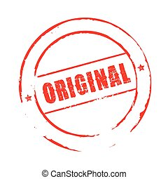 Red vector grunge stamp ORIGINAL