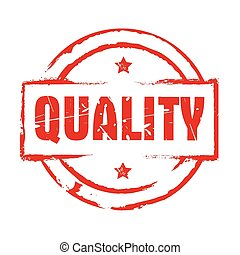 Red vector grunge stamp QUALITY