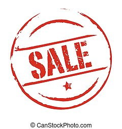 Red vector grunge stamp SALE