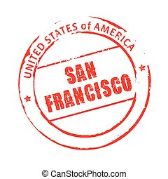 Red vector grunge stamp SAN FRANCISCO