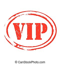 Red vector grunge stamp VIP