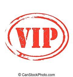 Red vector grunge stamp VIP