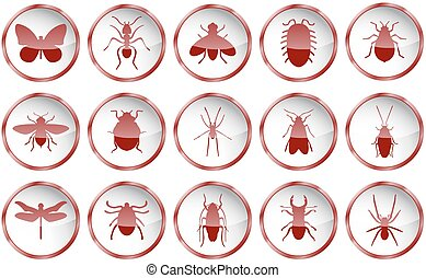 Red vector insects