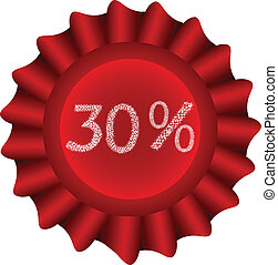 Red Vector Label-30%