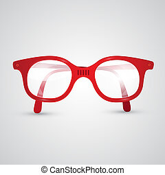 Red Vector Retro Glasses
