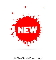 Red Vector Sale Blots Icon