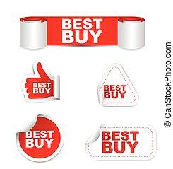 red vector set paper stickers best buy
