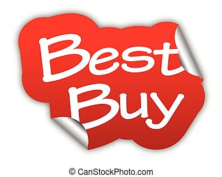 red vector sticker best buy