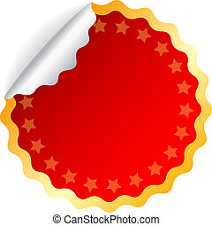 Red vector sticker