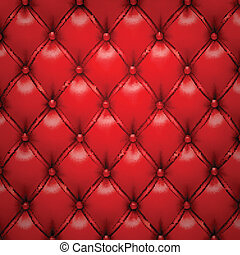 Red vector upholstery leather pattern background. - Vector...