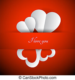 Red vector Valentines background