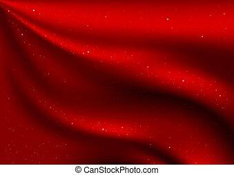 Red Velvet and Stars - detailed illustration as christmas background