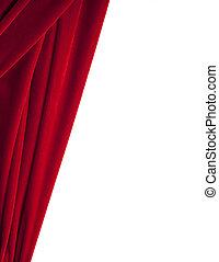 Red Velvet Background Isolated on White