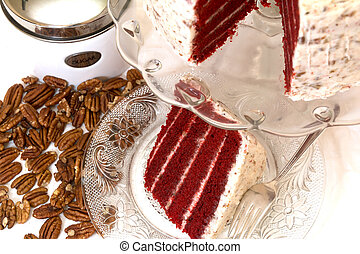Red Velvet Cake and Pecans