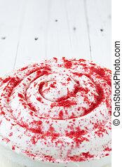 Red velvet cake close up