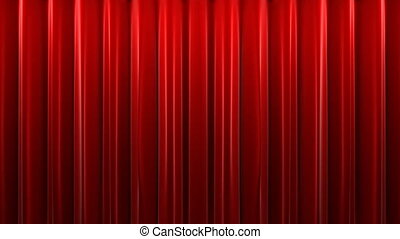 Red velvet theater curtain