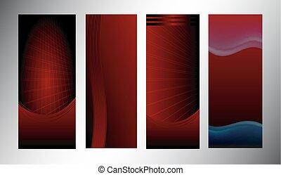 Red vertical banner