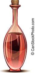 Red vinegar icon, cartoon style