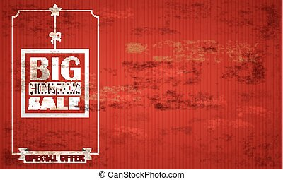 Red Vintage Background Christmas Sale