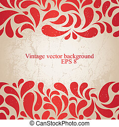red vintage background - Red grunge wallpaper. EPS8 vector...