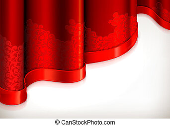 Red vintage background, vector