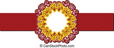 red vintage background