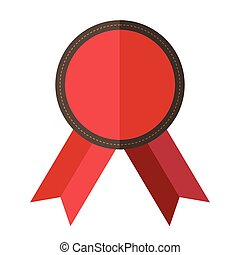 Red vintage badge