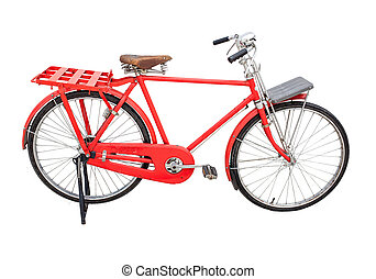 red vintage bicycle