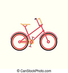 Red vintage bike, modern bicycle vector Illustration