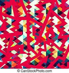 Red vintage geometric seamless pattern.