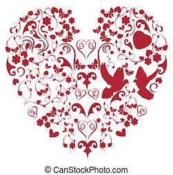 red vintage heart