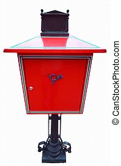 Red vintage mail post box