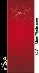 Red vintage menu cover design
