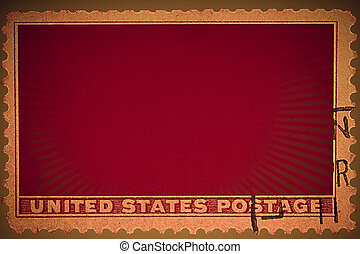 Red vintage stamp background