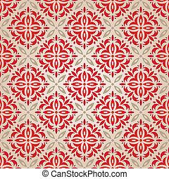 red vintage wallpaper