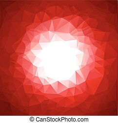 red vivid polygonal mosaic background, Vector illustration,  Business design templates