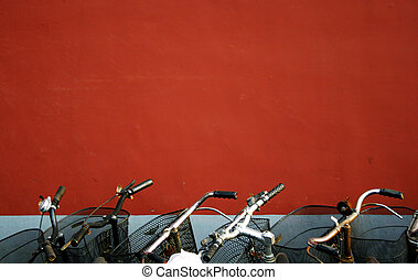 Red wall and Bicycle - red wall and bicycles in chinese ...