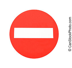 Red warning sign