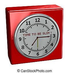 Red watch with words time to be slim