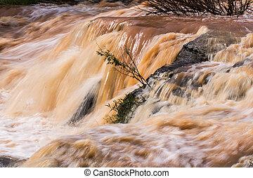 Red Water Flow Detail