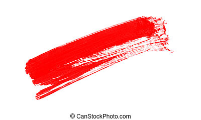 Red watercolor brush isolated on white background
