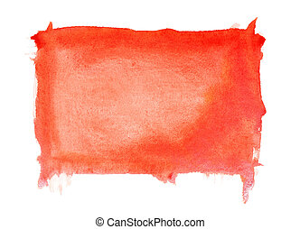 Red watercolor brush strokes, may be used as background