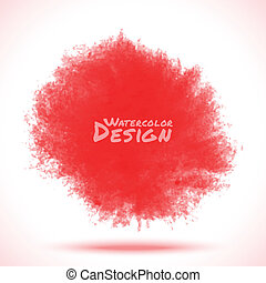 Red Watercolor splatter.