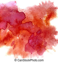 Red watercolor stains