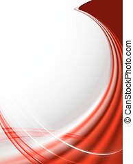 red wave abstract background