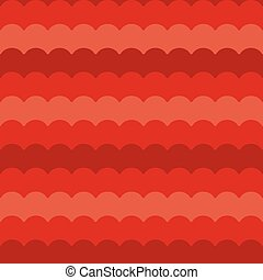 Red waves background seamless vector, wave pattern repeated seamlessly
