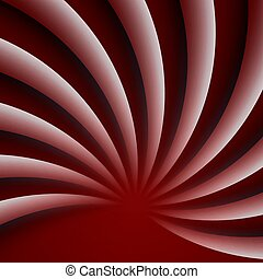 Red wavy abstract background. Modern vector illustration.