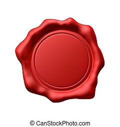 Red Wax Seal 3 - Isolated (Empty)
