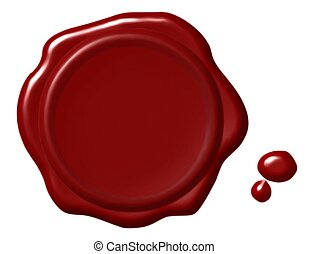 Red Wax Seal Illustration - Illustration of an old-fashioned...