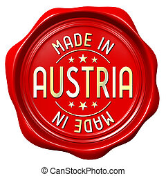 Red wax seal - made in Austria